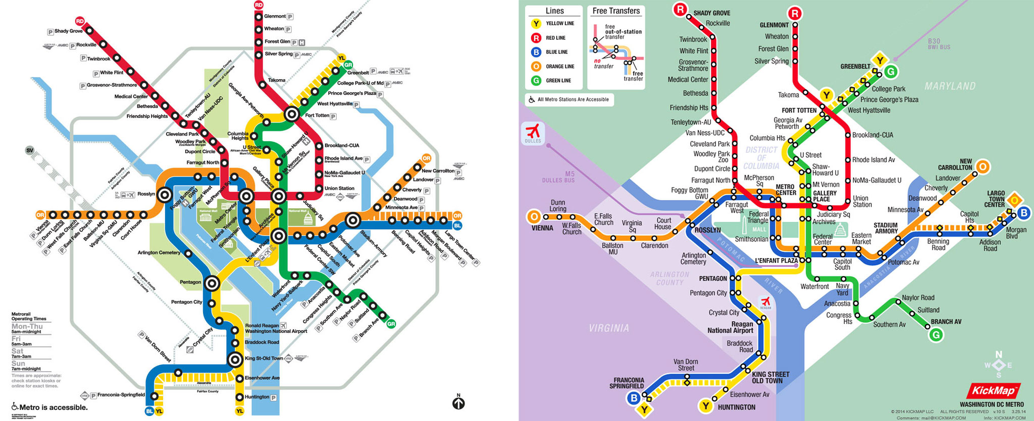 Kickmap Washington Dc Metro