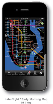 Nyc Subway Map Iphone.Kickmap Nyc Subway Map For Iphone And Ipod Touch