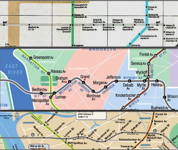 the l line comparison from the top the vignelli map the kick