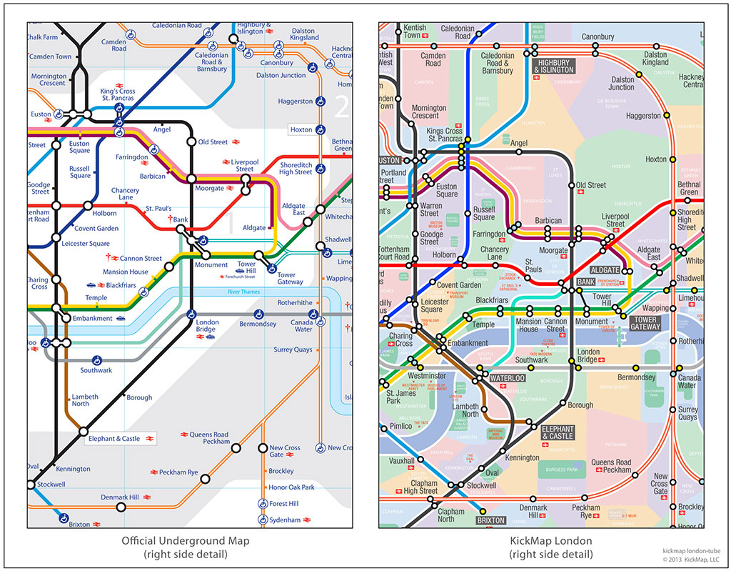 Map Subway London.Kickmap London